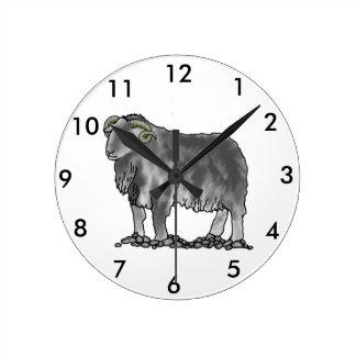 Relógio Redondo Pulso de disparo da arte dos carneiros de Herdwick