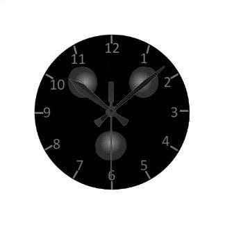Relógio Redondo Pulso de disparo da bola de boliche