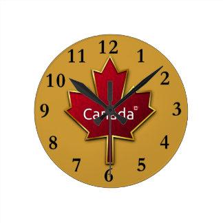 Relógio Redondo Pulso de disparo da folha de bordo de Canadá