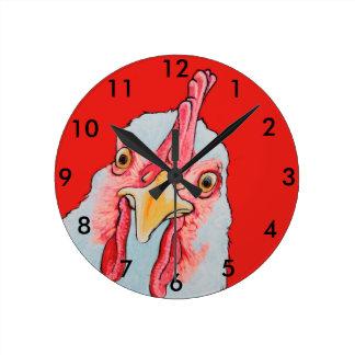 Relógio Redondo Pulso de disparo da galinha