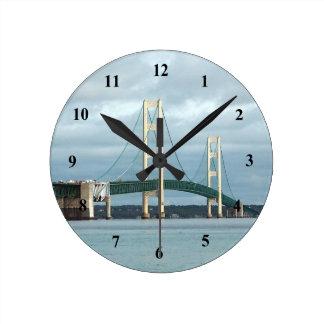 Relógio Redondo Pulso de disparo da ponte de Mackinac