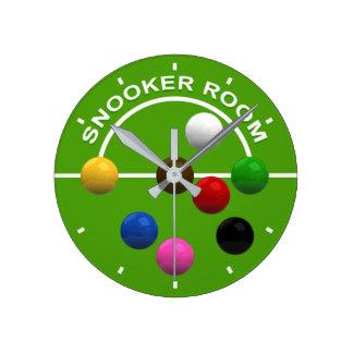 Relógio Redondo Pulso de disparo da sala do Snooker