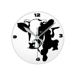Relógio Redondo Pulso de disparo da vaca