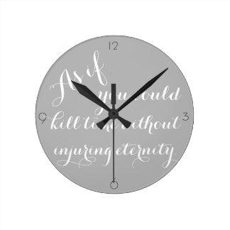 Relógio Redondo Pulso de disparo das citações de Thoreau