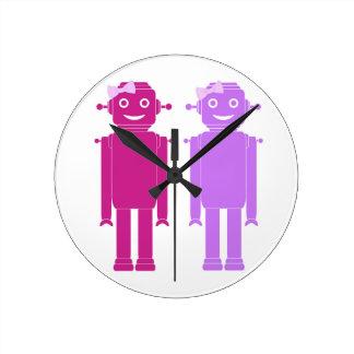Relógio Redondo Pulso de disparo das meninas do robô