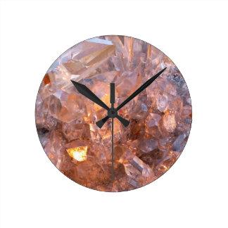 Relógio Redondo Pulso de disparo de cristal de quartzo