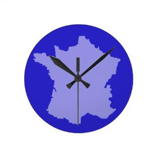 Relógio Redondo Pulso de disparo de parede - azul do design do