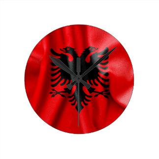 Relógio Redondo Pulso de disparo de parede da bandeira de Albânia