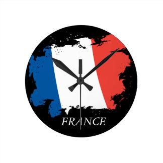 Relógio Redondo Pulso de disparo de parede da bandeira de France