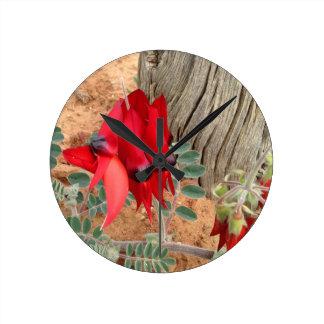Relógio Redondo Pulso de disparo de parede da ervilha de deserto