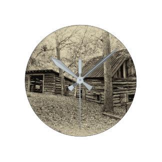Relógio Redondo Pulso de disparo de parede da fazenda do vintage