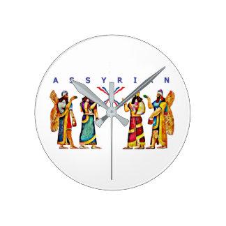 Relógio Redondo Pulso de disparo de parede de Annunaki do Assyrian