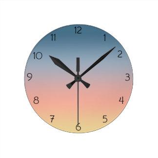 Relógio Redondo Pulso de disparo de parede de Ombre do por do sol
