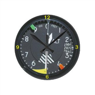 Relógio Redondo Pulso de disparo de parede do calibre de indicador