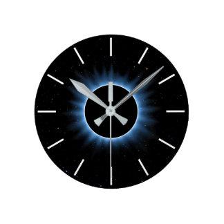 Relógio Redondo Pulso de disparo de parede do eclipse solar