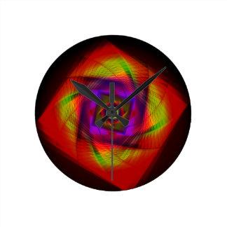 Relógio Redondo Pulso de disparo de parede do Fractal
