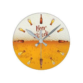 Relógio Redondo Pulso de disparo de parede do fundo da cerveja