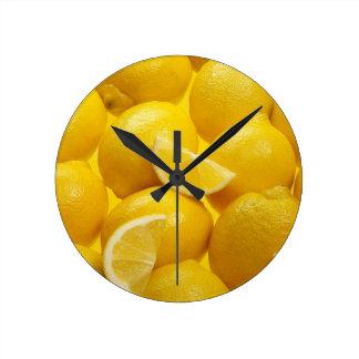 Relógio Redondo Pulso de disparo de parede do limão
