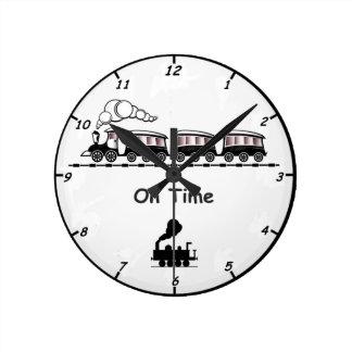 Relógio Redondo Pulso de disparo de parede do trem do vapor