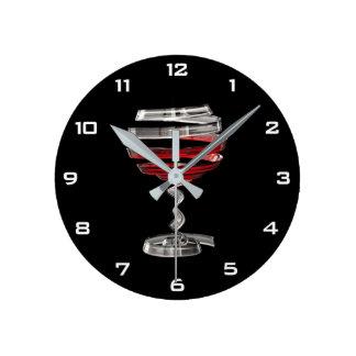 Relógio Redondo Pulso de disparo de parede estranho do vidro do