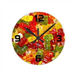 Relógio Redondo Pulso de disparo de parede gomoso dos doces do
