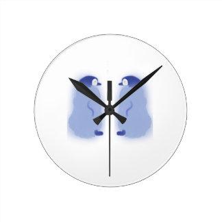 Relógio Redondo Pulso de disparo de parede médio do pinguim