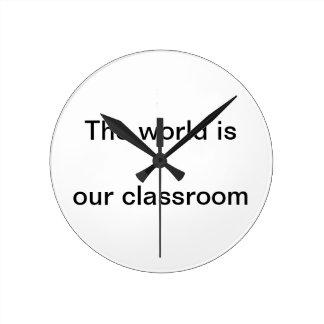 Relógio Redondo Pulso de disparo de parede para homeschoolers