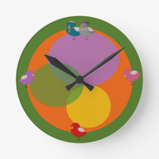 Relógio Redondo Pulso de disparo de parede redondo da ilustração