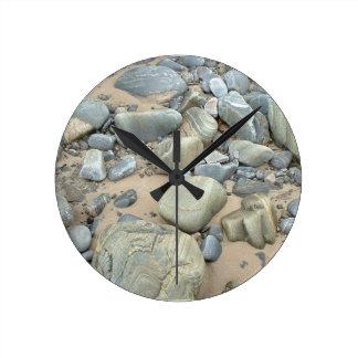 Relógio Redondo Pulso de disparo de parede redondo médio da praia