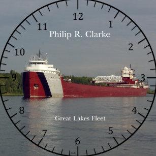 2bc85cfdae0 Relógio Redondo Pulso de disparo de Philip R. Clarke