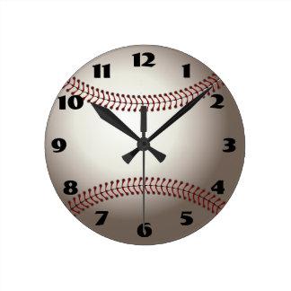 Relógio Redondo Pulso de disparo do basebol