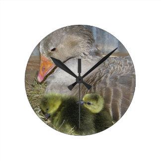 Relógio Redondo Pulso de disparo do Birds of a Feather
