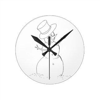 Relógio Redondo pulso de disparo do boneco de neve