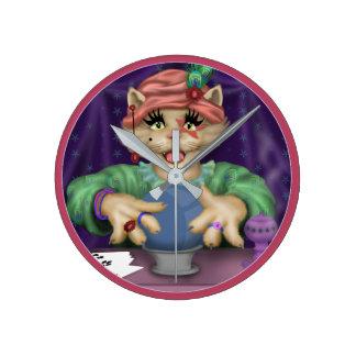 Relógio Redondo Pulso de disparo do CAT de TAROT redondo (MEIO)