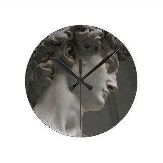 Relógio Redondo Pulso de disparo do David de Michelangelo