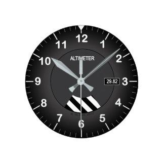 Relógio Redondo Pulso de disparo do estilo do altímetro
