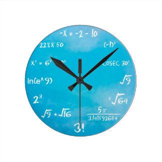 Relógio Redondo Pulso de disparo do questionário dos Maths - azul