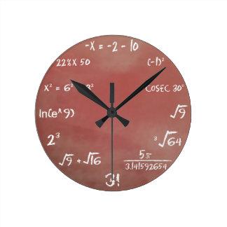 Relógio Redondo Pulso de disparo do questionário dos Maths - meio