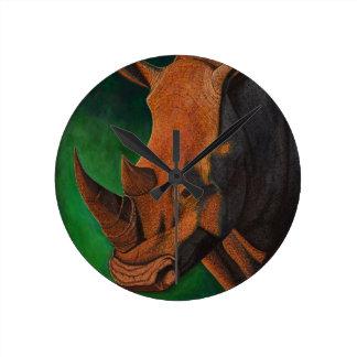 Relógio Redondo Pulso de disparo do rinoceronte