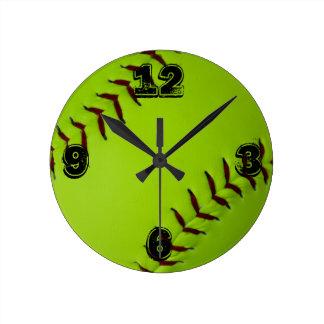 Relógio Redondo Pulso de disparo do softball