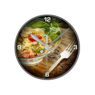 Relógio Redondo Pulso de disparo fresco da cozinha da salada da