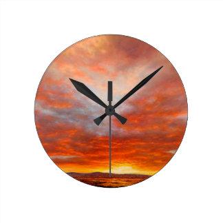 Relógio Redondo Pulso de disparo inspirado do nascer do sol