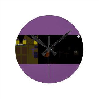 Relógio Redondo pulso de disparo legal do Dia das Bruxas
