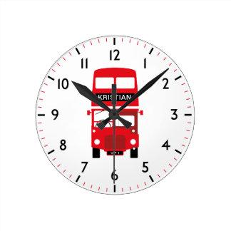 Relógio Redondo Pulso de disparo numerado personalizado de Londres