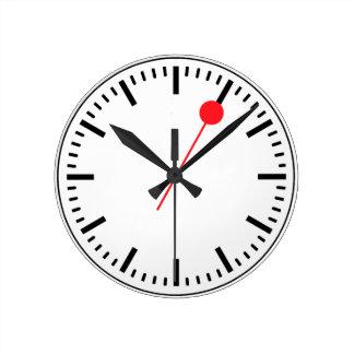 Relógio Redondo Pulso de disparo Railway suíço