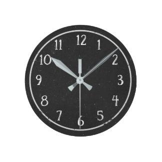 Relógio Redondo Pulso de disparo redondo do quadro rústico moderno