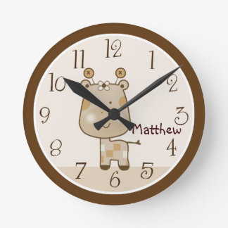 Relógio Redondo Pulso de disparo sonolento personalizado do