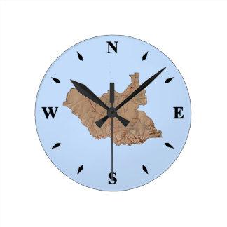 Relógio Redondo Pulso de disparo sul do mapa de Sudão
