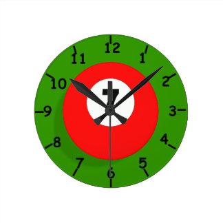 Relógio Redondo Pulso de disparo vermelho da bola de bilhar