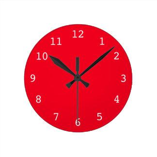 Relógio Redondo Pulso de disparo vermelho liso